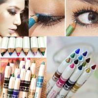 Wholesale Lip Glitter Wholesale - Wholesale- ColorWomen 12 Color Multifunctional Glitter Lip Eyeliner Eye Shadow Pens Cosmetic Easy Makeup Tools 160719