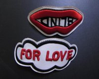 Wholesale Tiger Print Lips - Fashion Casual Patch Flaps For Casual shoes 25 And Sward Tiger Head UFO Red Lips