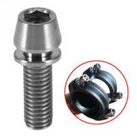 Wholesale Titanium Screw Bicycle - 2pcs M5 16mm Titanium Alloy Tapered Head Bolt Screw With Washer MTB Mountain Bicycle Repairing Titanium Bolts Bike Maintenance Tool