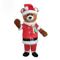 Wholesale Happy Bear Mascot - carnival party high quality funny chrismas mascot costume Santa bear adlut christmas outfits happy cartoon character mascots for sale