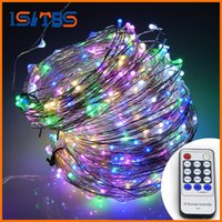 Wholesale Flash Solar Control - 20M 200leds   30M 300leds   50M 500 LEDs Cool White LED String Light Christmas Lights Silver Wire Remote Control + power adapter
