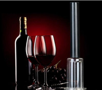 Wholesale pump wine opener - New Arrival Top Quality Red Wine Opener Air Pressure Stainless Steel Pin Type Bottle Pumps Corkscrew Cork Out Tool