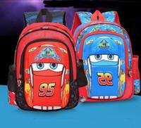 Wholesale Cars Rucksack - New design 30CM School bag Cars Boys Children Backpack Rucksack Kids Book bags Free shipping C180