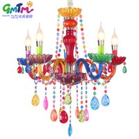 Wholesale GMTM lighting NEW Art decoration Colorful glass led crystal chandeliers living room bedroom restaurant hotel chandelier
