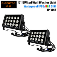 2Pcs / Lote 100% Hi-Powerful 225W Tricolor RGB 15x15W 3in1 Led Wall Washer Luz Ao ar livre, Outdoor Led Washer Light RGB, DMX Mode