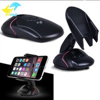 Wholesale Folding Mouse - Universal Mouse Model Folding Adjustable Car Mobile Phone Holder Dashboard Mobile Mount Car Mobile Phone Holder GPS Car Mount