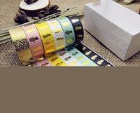 Wholesale foil japanese - Wholesale- 2016 6Pcs Sell Foil Washi Tape Set Japanese Stationery 1.5*10meter Kawaii Scrapbooking Tools Mask Adhesive Tape School Washitape
