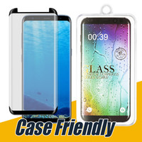 Wholesale Cases Retail Packaging - Case Friendly Screen Protector For Samsung Note 8 Tempered Glass For Galaxy S8 S7 Edge 3D Curved Glass Great for Any Case in Retail Package