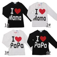 Wholesale baby boys long sleeved t shirt resale online - Hot Sale Children s Spring Autumn outfit baby O neck letter t shirt long sleeved cotton Black White Kid T shirt DHL FREE