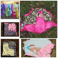 Wholesale Soft Swaddle Blankets - infant baby blanket chevron newborn Infant Swaddle Baby Soft Blanket Wrap Towel mink baby super soft blanket 80*80cm 46 design KKA860