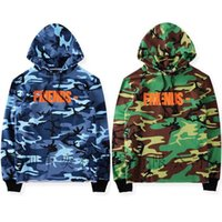 Wholesale Riding Jackets - Europe and the United States high street riding soldiers VLONE military camouflage sweater back V big hooded sweater men and women jacket