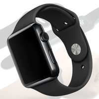 Wholesale Gps Mirror Inch - New Black 42mm Goophone Watch 2 Sapphire Mirror Stainless Steel Wireless Charger MTK2502C 1.54 inch HD IPS Screen Bluetooth 4.0 Heart Rate
