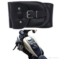 Wholesale Motorcycle Bag For Harley Sportster XL Iron Black PU Leather Gallons Tank Bag with Pouch Chap Cover Bag MB110