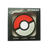 Wholesale Elf Silicone - Silicone Elf Poke Ball Play Station Playstation Symbol Captain Fidget Spinner Hand Spinner Portable Luminous Gyro EDC Decompression