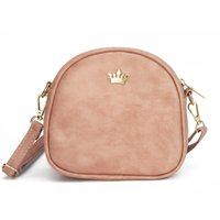 Wholesale Mini Pink Crown - Fashion women messenger bags crown rivet female crossbody bag PU leather shoulder bag ladies mini pack bolso sac 2017 new design