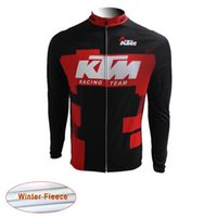 Wholesale Cheap Cycling Clothing China - KTM Pro Winter Thermal Fleece Cycling Jersey Bike Bicycle Sportwear Ropa Ciclismo MTB Cycling Clothing Long Sleeve cheap-clothes-china