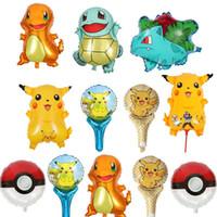 decorações para easter venda por atacado-Pikachu Balões Partido decoração balão De Alumínio Revestimento Dupla Face Balões Fontes Do Partido Presentes de Natal Da Páscoa GA028