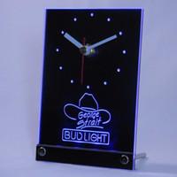 Wholesale Bud Light George Strait - Wholesale-tnc0484 Bud Light George Strait Table Desk 3D LED Clock