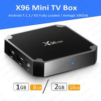 Wholesale Android Tv 16gb - X96 Mini android 7.1.2 amlogic S905W new tv box 1g+8g US23.12 2g+16g US31.38 eMMC flash h.265 HEVC 10 bit HDR VP9 android boxes VS TX3 mini