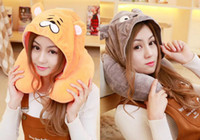 Wholesale Totoro Neck Pillow - Cartoon Totoro Chinchilla U Shape Neck Pillow With Dismountable Hat Flight Protect Shoulder Travel Pillow Plush Toys Support Your Neck