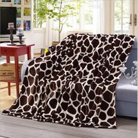 Wholesale Leopard Bedding Sale - hot sale the most popula Super soft and warm Coral Fleece blanket on the bed Leopard blanket design elements 4 sizes