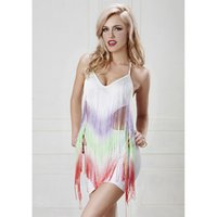 Wholesale Tight Hot Low Cut - Sexy Hot Low Cut Sleeveless Dress Halter Backless Stretchy O-Neck Sundress Tight Package Hip Strap Skirt Nightclubs Party Women