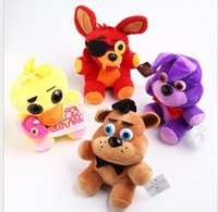 Wholesale Bonnie Babies Kids - 10 style Five Nights At Freddy FNAF Freddy chica bonnie Bear foxy Plush teddy bear Toys Doll for kids baby christmas doll gift