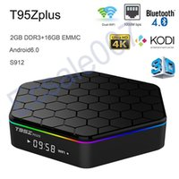 Wholesale Core Arms - T95Z Plus Amlogic S912 Android TV Box Octa core ARM Cortex-A53 2G 16G Android 6.0 TV Box WiFi BT4.0 2.4G 5.8G H.265 4K Play