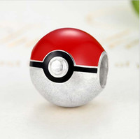 Wholesale Ball Metal Bracelet - Genuine 100% 925 Sterling Silver Beads Pikachu Elf Ball Charm Fit Pandora Original Bracelet Pendant DIY Authentic Jewelry Accessories