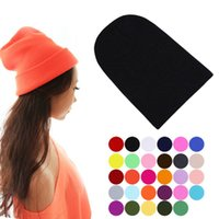 black tabby - Winter Warm Unsex Knitting Women Men Wool Fluorescence Color Tabby Solid Elastic Beanie Hedging Hat Hats