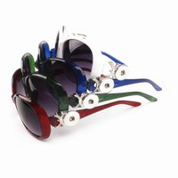 Wholesale Restore Acrylic - 12 PCS of 4 kinds of color 2017 sunglasses fashionable restore ancient ways of 18 mm snap button, beach fashion accessories