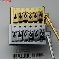 Wholesale Gold Tremolo Bridge - 1pcs Guitar Parts BS201 - Vintage Style Tremolo Guitar Bridge - CHROME-GOLD