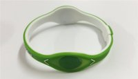ingrosso braccialetto di ione del braccialetto-Il braccialetto caldo di fascino dei monili di modo del braccialetto di ologramma di ologramma di potere di energia del braccialetto tiene l'equilibrio di sport del silicone dell'equilibrio di trasporto libero