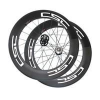 Wholesale Fixed Gear Rear Hub - 23mm Width 700c bicycle wheels track 88mm clincher wheels carbon track wheel fixed gear single speed wheelset with hub Novatec 165 166
