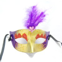 Wholesale Masquerade Masks Quality - 2017 Halloween Masquerade Masks High Quality Masquerade Feather Masks Hallowmasvenetian Eye Mask Dance Party Holiday Fashion Women Sexy New