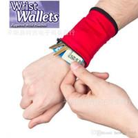 Wholesale Fleece Shop - Wrist Wallet Fleece Outdoor Activities Sport Shopping Mini Wristlet Strap Zippered Pouch Key Case Multi Function Bag Safe 2 4cj R
