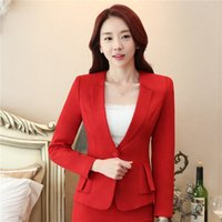 Wholesale Ladies Feminine Clothing - Elegant Business Formal Office Blaser Suits Wear Women Long Sleeve Feminine Blazer Clothing Ladies Vogue Top Plus Size S To 5XL