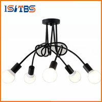 Wholesale Art Deco Clothing - Surface Mounted Ceiling Lighting 3 5 Heads Indoor Ceiling Lights Bedroom Living Room Ceiling Lamp For Bar Clothing Store