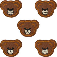 Wholesale Wholesale Bear Patches - Diy Bears patches for clothing iron embroidered patch applique iron on patches sewing accessories badge stickers for clothes bag