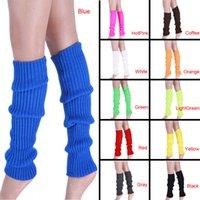 Wholesale Thigh High Socks Hot - Wholesale- 2016 Hot Sale Stretch Fabric Women Winter Thigh High Leg Warmers Solid Classic Plain Knitted Crochet Long Socks Warm Boots Socks