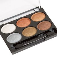 Wholesale Stage Eye Makeup - Makeup 6 Color Eye Shadow Pearl Smoke Smokeds Make Up Eye Shadow Water Cream Does Not Bloom Big Beauty Stage Smoked Eyes Tools