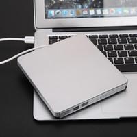 Wholesale dvd portable for pc resale online - High Quality Portable USB3 Slim External CD DVD RW CD RW DVD Burner Writer Drive for PC Mac Laptop for Desktops