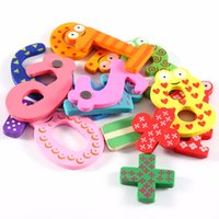 Wholesale Educational Fridge Magnets - Wholesale- 15Pcs lot Mathematics Numbers Wooden Fridge Magnets Figures DIY Wall Sticker Home Children Learning Educational Toys Kids Gift