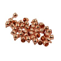 Wholesale End Bead Cap Stopper - 50pcs Leather Cord End Cap Beads Stopper Kumihimo Bracelet Jewelry Finding