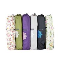 Wholesale Pink Yoga Mat Bag - Wholesale-Pilates & Yoga 100% Canvas Mat Bag Yoga Mat Bag With Cargo Pocket