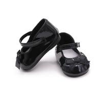 bonecas de silicone americano venda por atacado-18 polegada Boneca American Girl Boneca de Couro Sapatos de Silicone Reborn Brinquedo Do Bebê Acessórios Artesanais Adorável Mini Sapatos Para A Menina Criança