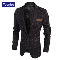 Wholesale male suite - Wholesale- New Slim Fit Casual jacket Cotton Men Blazer Jacket Single Button Black Mens Suit Jacket 2017 Autumn Coat Male Suite