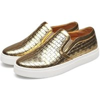 Wholesale Boat Board - New brand men casual shoes PU leather black gold slip-on boat shoes men loafers shoes classic board shoe free shipping