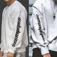 Wholesale women crew neck sweatshirt - Season 4 Sweatshirt Men Women High Quality Kanye West Crew Necks 100% Cotton Hoodies Pullover Season 4 Sweatshirt