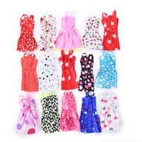 Wholesale Barbies Dolls Dresses - 10PCS set Mixed Style Handmade Doll Dress for Barbie Fashion Summer Party Priness Dress for Barbie Dolls Clothing